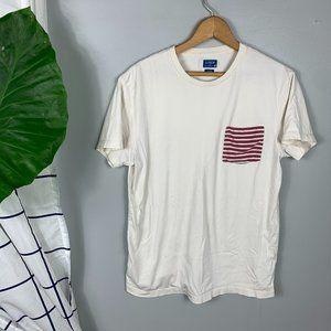 J.Crew Short-Sleeved T-Shirt Striped Pocket Size M